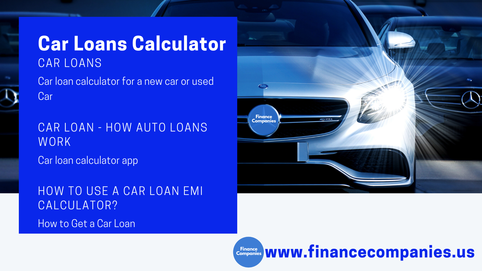 Car Loans Calculator A Guide To Auto Loans Financecompanies