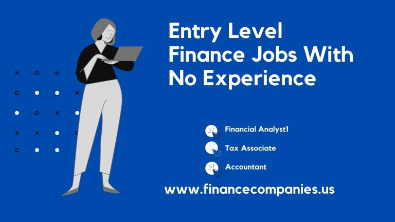 Entry Level Finance Jobs With No Experience