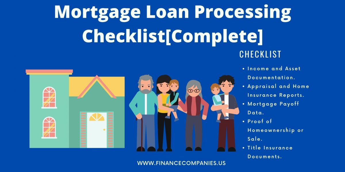mortgage loan processing checklist
