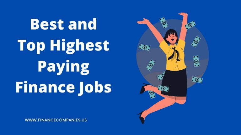 Best and Top Highest Paying Finance Jobs