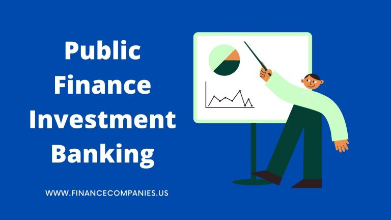 Public Finance Investment Banking
